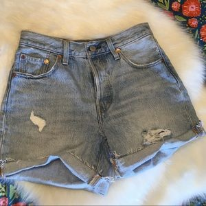 Levi's 501 light wash denim shorts